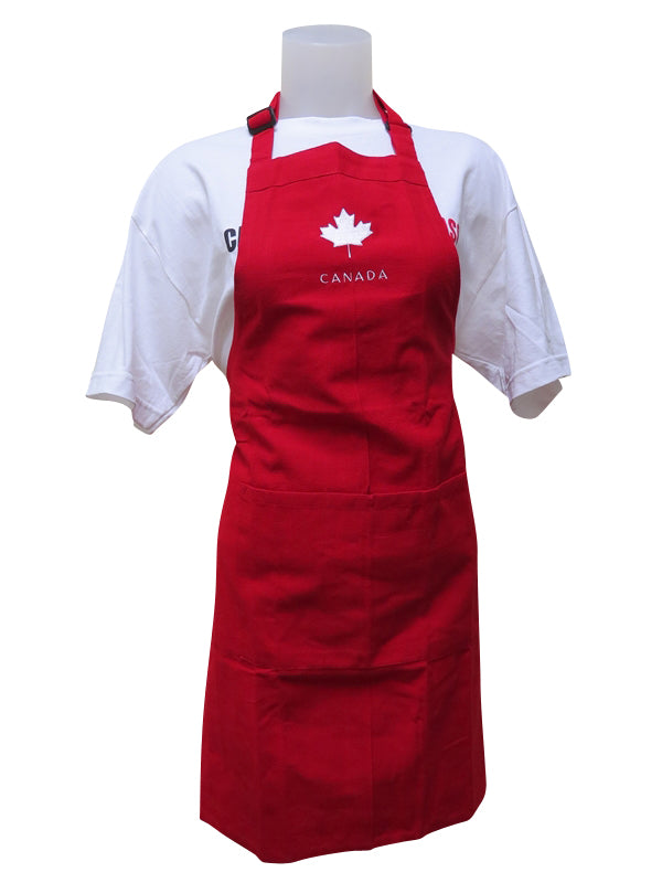 red canada cooking bbq apron