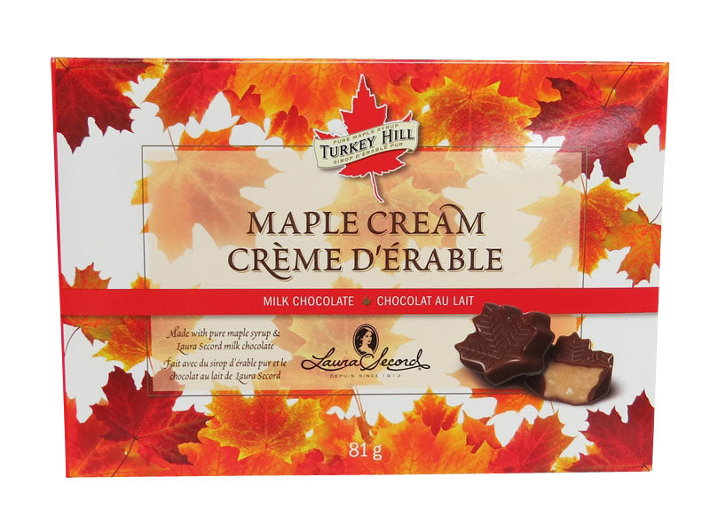 maple cream milk chocolate leaves