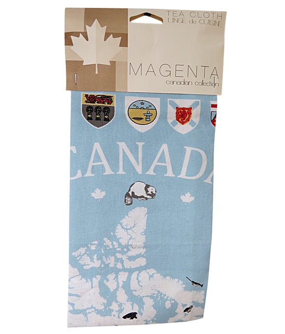 map of canada tea towel