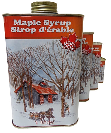 canadian maple syrup in metal tins