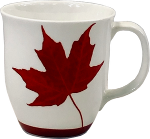 canadian maple leaf fine bone china coffee mug