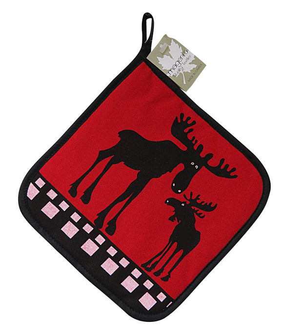 Red Moose Pot Holder