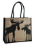moose jute tote shopping bag
