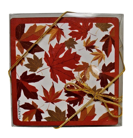 autumn maple leaves coasters