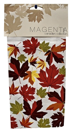 autumn maple leaves tea towel