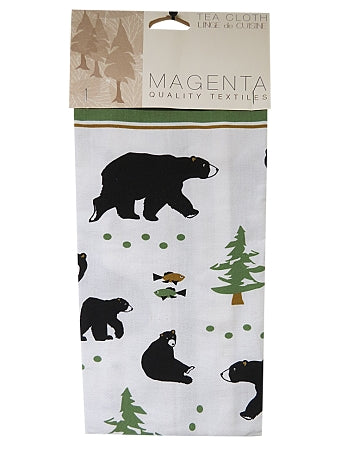 black bear tea towel