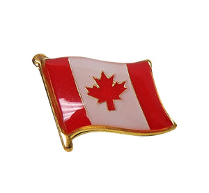 Waving Canadian Flag Lapel Pin