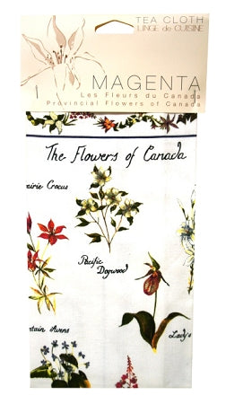 flowers of canada tea towel