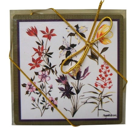 flowers of canada coasters