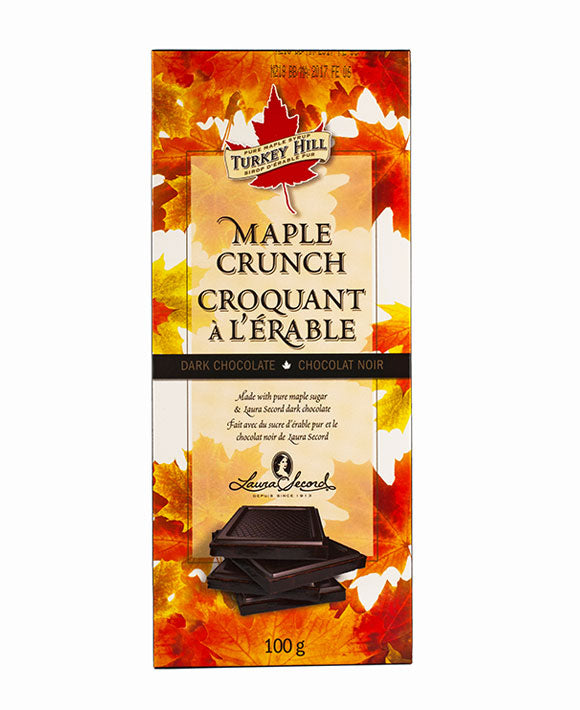 Maple Crunch Dark Chocolate Bar