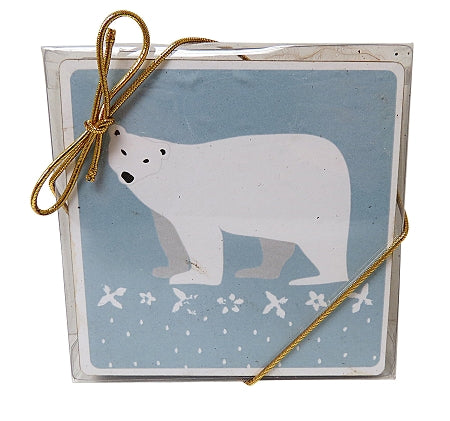 canadian polar bear coasters