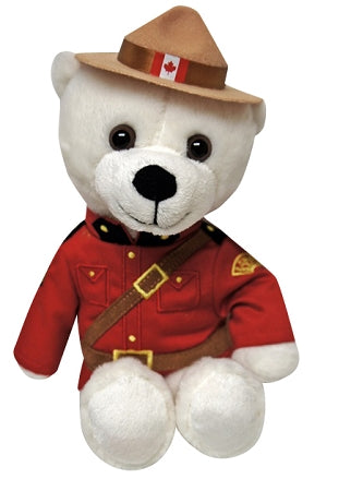 rcmp souvenir stuffed animal polar bear