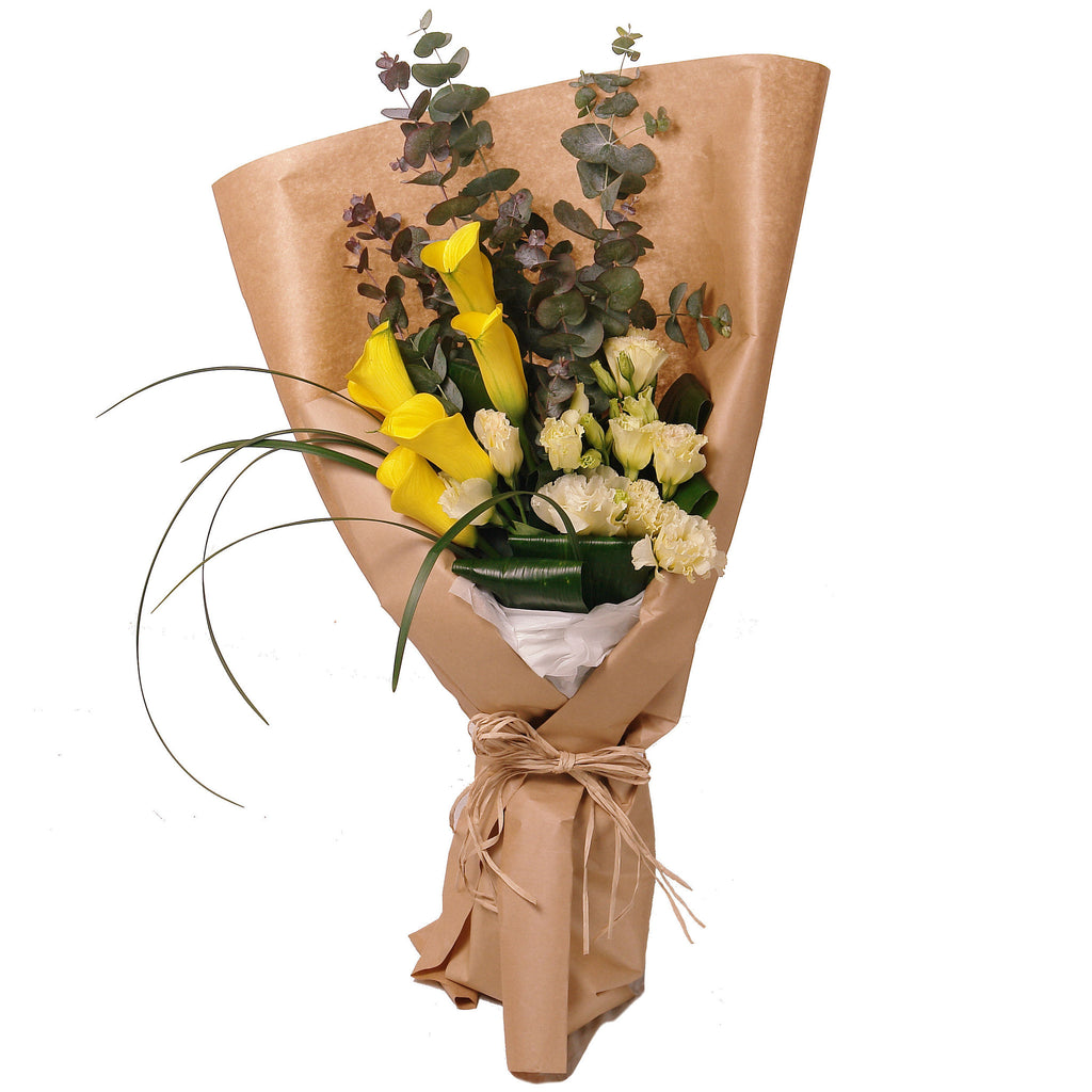 Calla Lilies Flower Bouquet with Greens
