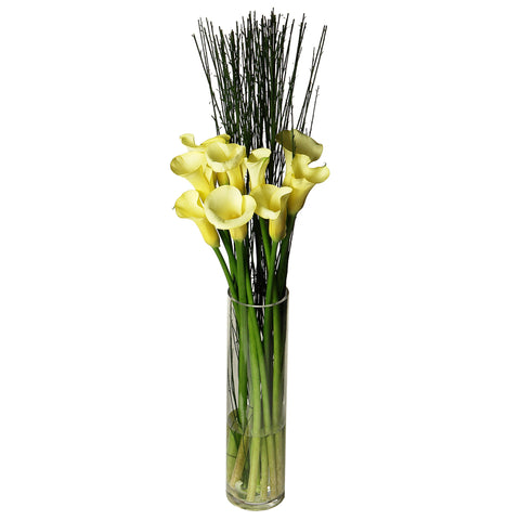 The Radiant Calla Lily Flower Arrangement in a Vase
