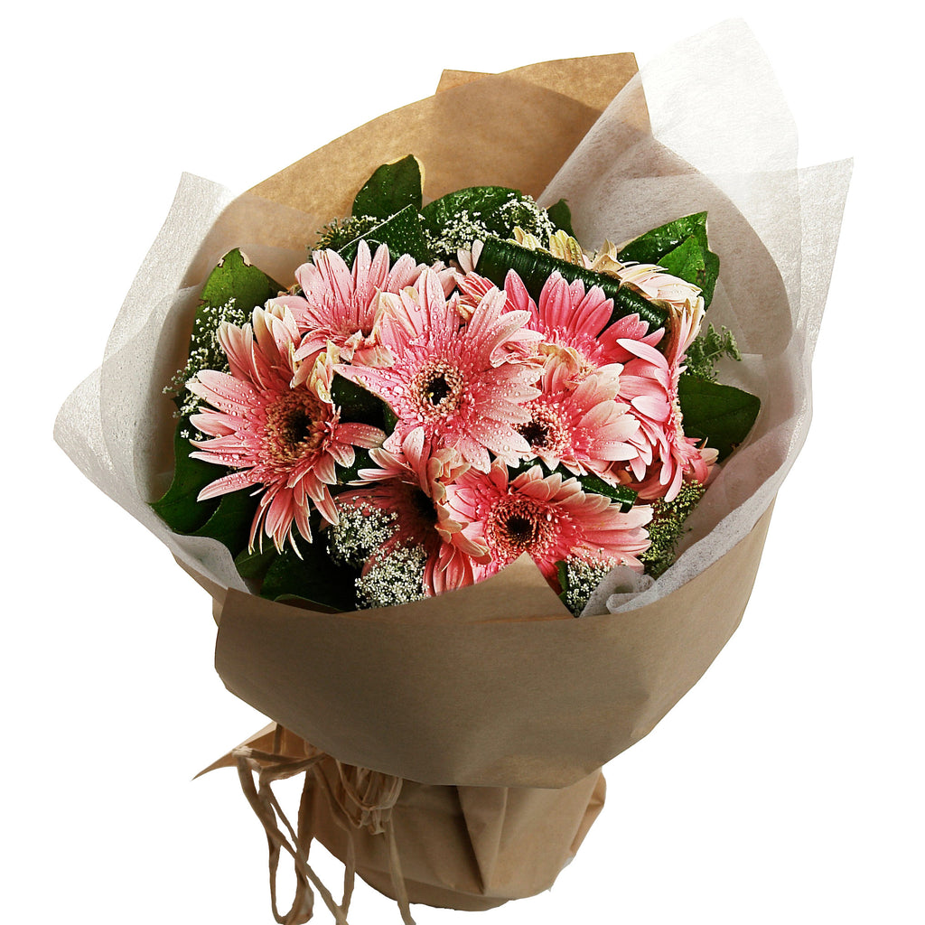 Gerbera Flower Bouquet with Matching Greens