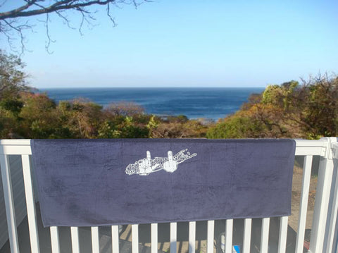Navy Blue Beach Towel