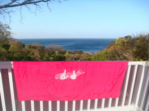 Hot Pink Beach Towel