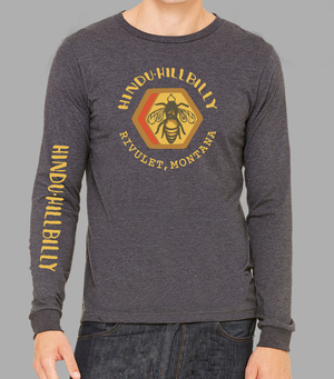 Charcoal Grey Hindu Hillbilly Long Sleeve T-shirt