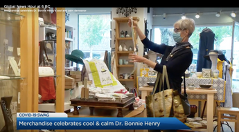 Covid-19 Tea towels featured on Global News!