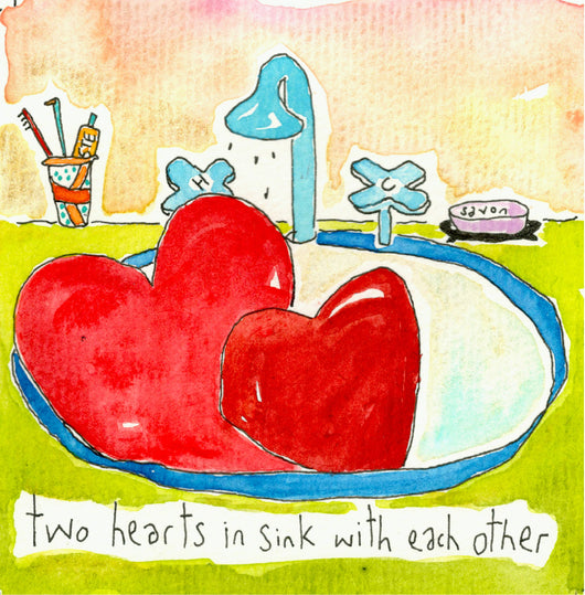 Two Hearts in Sink With Each Other