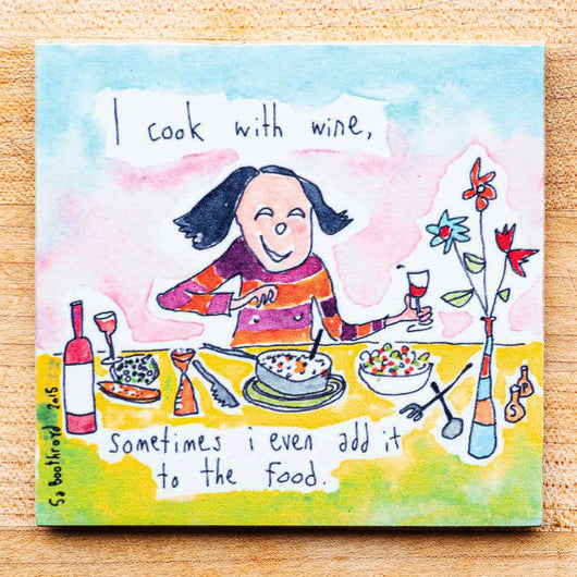 I cook with wine, sometimes I even add it to the food (English & Français)