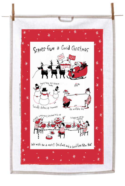 Tea Towel - Scenes from a Covid Christmas