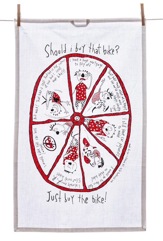 Tea Towel - Should I Buy that Bike?