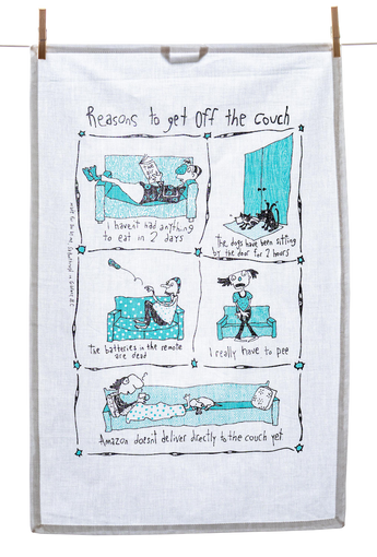 Tea Towel - Reasons to Get Off the Couch