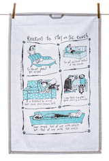 Tea Towel - Reasons to Stay On the Couch