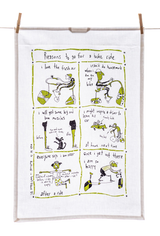 Tea Towel - Reasons to go for a bike ride (English & French)