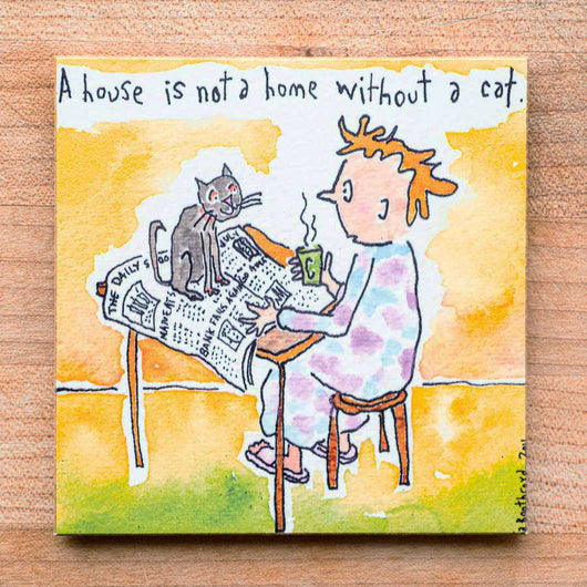 A house is not a home without a cat (English & Français)