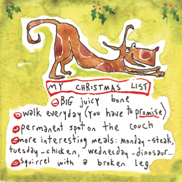 Dog's Christmas list