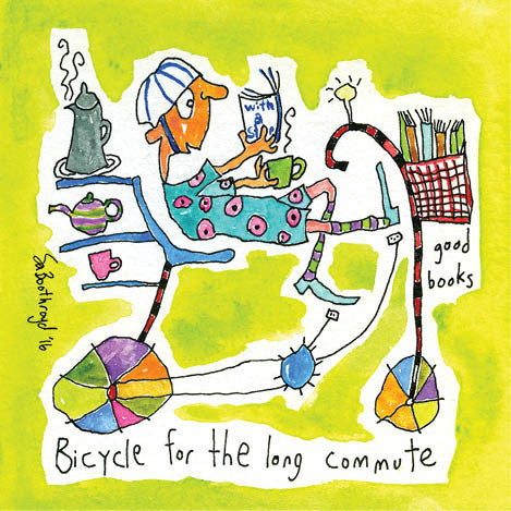 Greeting Card - Bicycle for the big commute