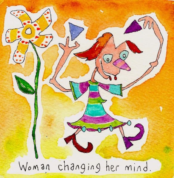 Woman changing her mind