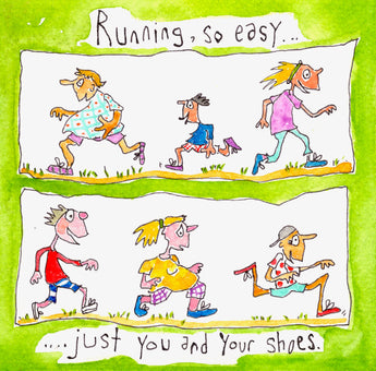 Running, so easy...just you and your shoes
