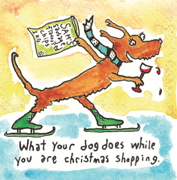 What your dog does while you are Christmas shopping