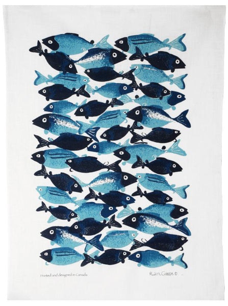 Tea Towel - Raingoose School of Fish
