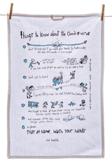 Tea Towel - Things to know about the COVID-19 Virus