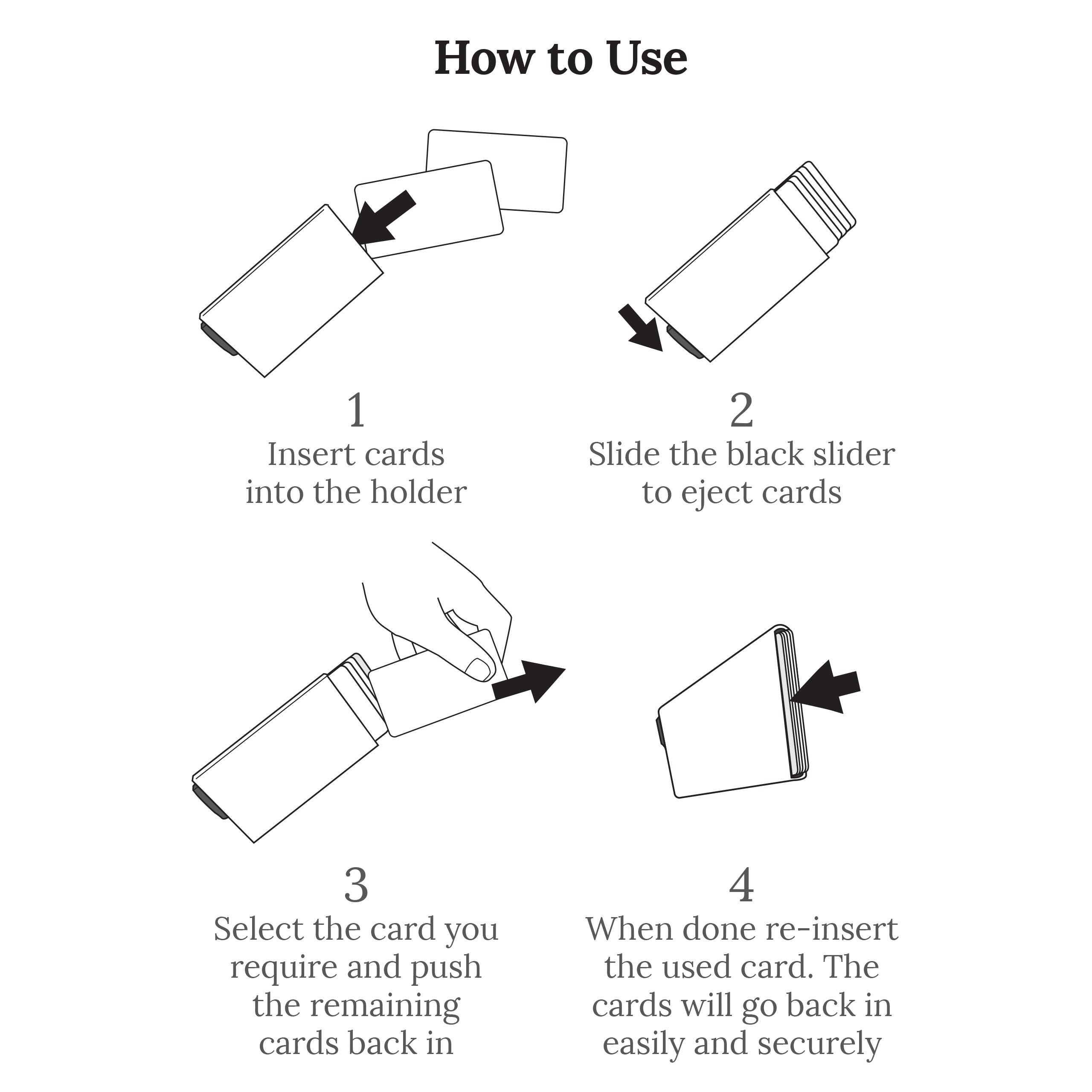 RFID Card Holder Instructions
