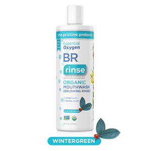 BR Organic Wintergreen Mouthwash | Brushing Rinse (16oz)