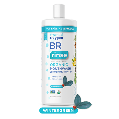 BR Organic Wintergreen Mouthwash | Brushing Rinse (32oz)
