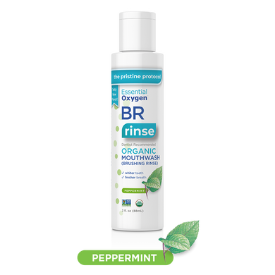BR Organic Peppermint Mouthwash | Brushing Rinse (3oz)