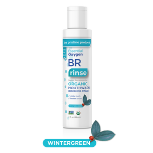 BR Organic Wintergreen Mouthwash | Brushing Rinse (3oz)