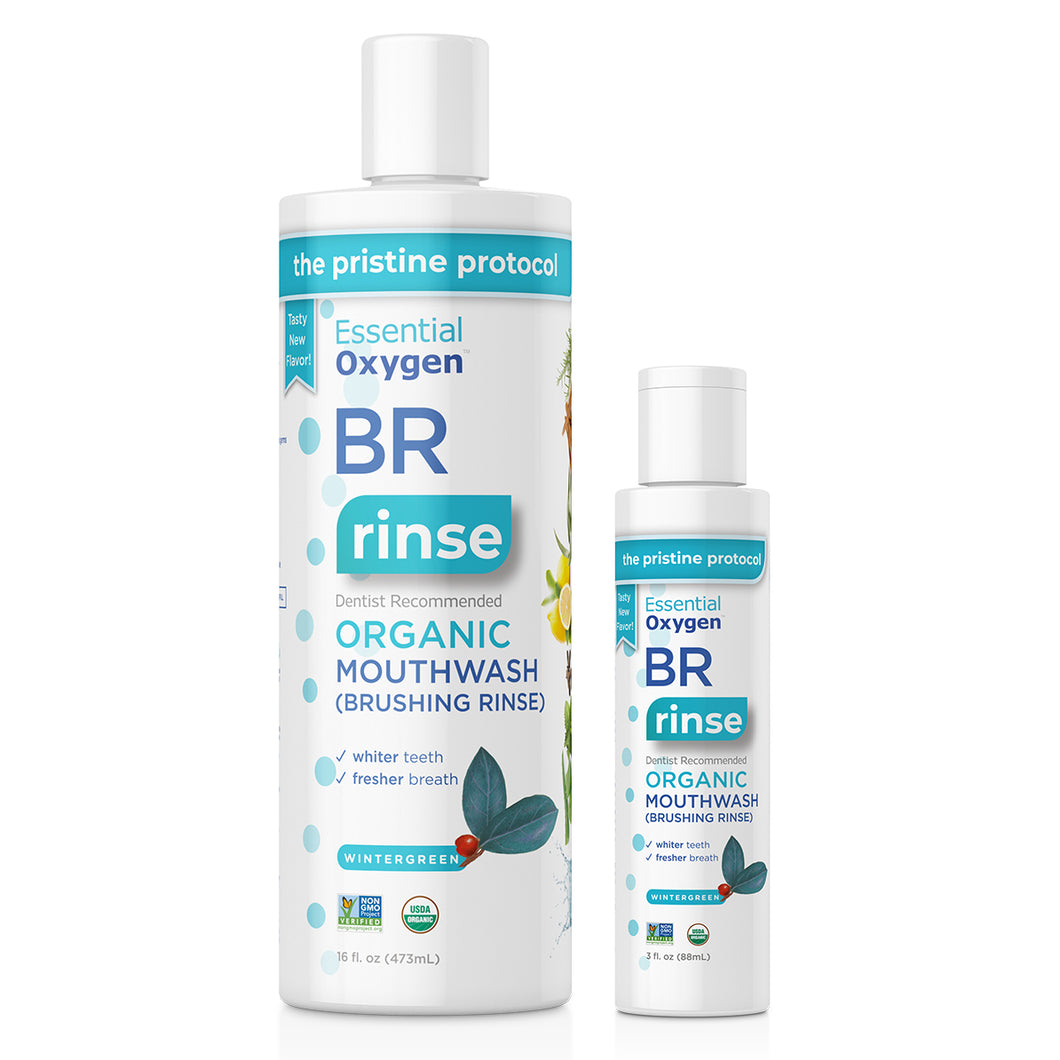 BR | Organic Wintergreen Mouthwash Combo Pack (16oz + 3oz)