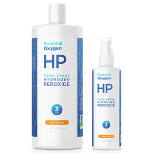 3% Food Grade Hydrogen Peroxide (32oz + 8oz spray combo pack)