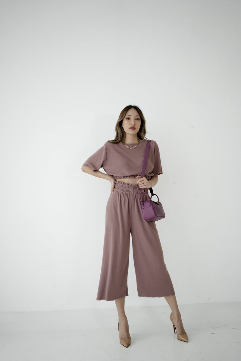 RIB SET WITH SHORTS (PRE ORDER FOR 18 WORKING DAYS)