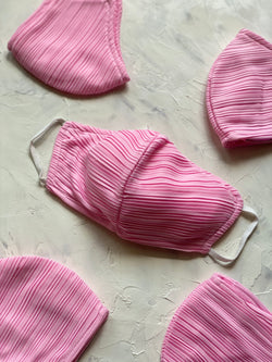 Pleats Mask in Pink (Pre-Order 7 Working Days)