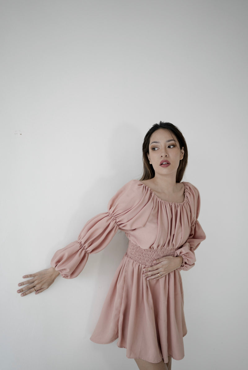 Bridge Dress in Peach (PO 14 Working Days)
