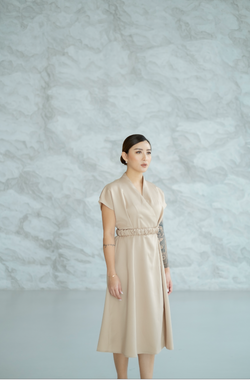 Kaguya Dress in Beige