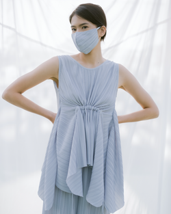 Pleats Mask in Grey (Pre-Order 7 Working Days)